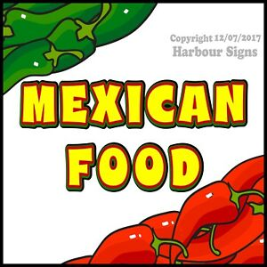 Mexican Food DECAL (Choose Your Size) Concession Food Truck Vinyl Sticker