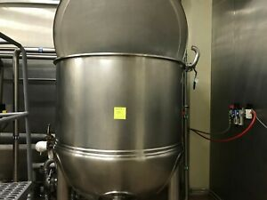 2015 High Pressure 200 gallon lee steam jacketed kettles(2)