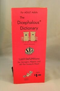 THE DICEPHALOUS DICTIONARY 1967 For Adult Adults Hippies