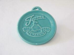 Fiesta® TURQUOISE 75th Anniversary Embossed Ornament FREE SHIPPING $14.99