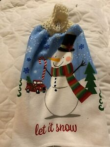 Let It Snow Double Thick Unique Thick Kitchen Towel By Laura