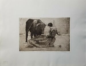 SPRING ART SALE!   JENNI TOMAO Original Etching Matador Signed