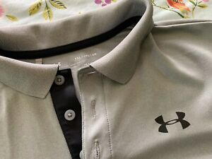Under Armour YXL Youth XL Loose Gray Athletic Polo Shirt $10.00