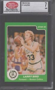1984 85 STAR LARRY BIRD CELTICS CARD # 1 SCD 7