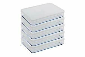 Silicook Flat Plastic Box for Kitchen for Kitchen&Refrigerator (Large 5)