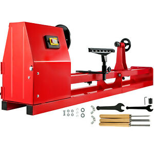 Wood Lathe 14quot; x 40quot; Power Wood Turning Lathe 400W 4 Speed Benchtop $194.97