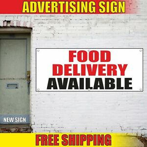 FOOD DELIVERY Banner Advertising Vinyl Sign Flag fast pick up go