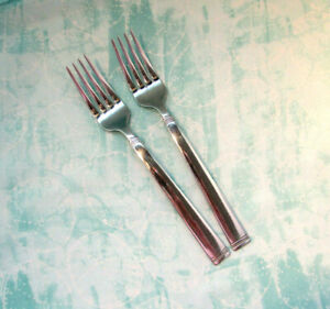 FONTINELLA - TWO SALAD FORKS-Food Network Stainless-FONTINELLA-beaded/banded