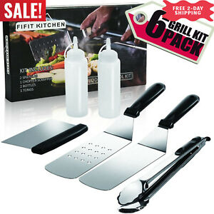 Griddle Accessory Tool Kit - Grade Grill Griddle BBQ Tool Accessories Kit 6 PCS