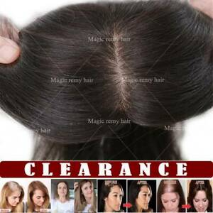 US Ladies Real Topper Human Remy Hair Extensions Clip in Hair Piece Short Toupee $40.28