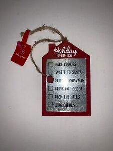 TARGET Holiday-To-Do-List Ornament with Moveable Magnetic Marker RED MULTI NWT
