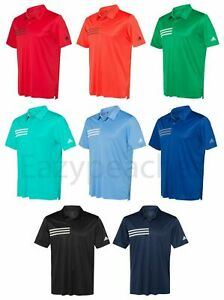 ADIDAS Mens 3 Stripes Chest Golf Polo Dri fit Sport Shirts Size S 4XL A324 $30.95
