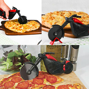 Stainless Steel Motorcycle Pizza Cutter Pizza Cake Slicer Kitchen Gadget Tool