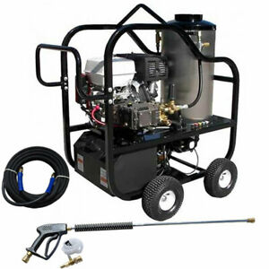Pressure-Pro Professional Hot Shot 4000 PSI (Gas - Hot Water) Pressure Washer...