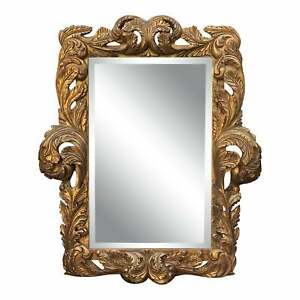 William Switzer - Dramatic Baroque Hand Carved Designer Gilt-Wood Mirror