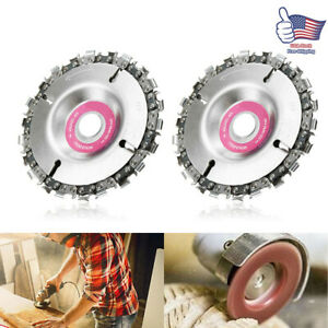 2Pcs Grinder Disc &Chain Wood Carving Saw Blade for 4
