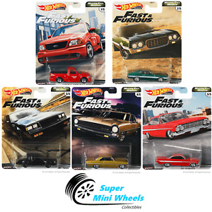 Hot Wheels 2020 Fast & Furious Motor City Muscle G Case Set 5 Cars