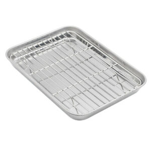 Aspire Cookie Baking Sheet Set with Cooling Rack Stainless Steel 2 sizes $11.99