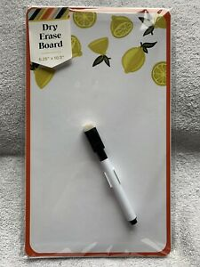 Magnetic Lemons Dry Erase Board With Marker By 3 Birds Design