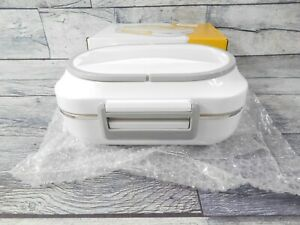 Portable Electric Heating Lunch Box Bento Heater Food Warmer Meal Container Grey