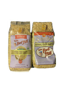 2 Bobs Red Mill Steel Cut Oats 24 Oz Bags. Gluten Free! Expires 12/3/2020