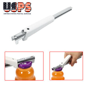 Adjustable Can Opener Stainless Steel Jar Bottle Lid Easy Remover Tool Home Pub