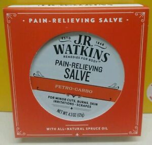 JR Watkins Pain Relieving Salve 4.3oz FRESH 2021 Packaging Petro Carbo New NEW $21.99