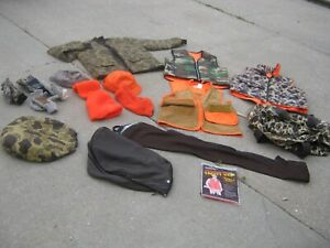 lots Used Winchester Hunting Bag SaftBak Vests Jacket Hats Mittens Miscellaneous