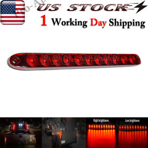15 Red Sealed Strip 11LED Truck Trailer Light Bar Stop Tail Rear Brake Lights