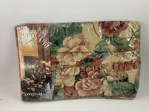 Vtge NIP SPRINGMAID Mary EMMERLING Home Retro Cottage Floral Twin Flat Sheet