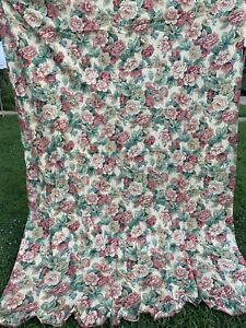 Vintage SPRINGMAID Mary EMMERLING Home Retro Cottage Floral Twin Flat Sheet