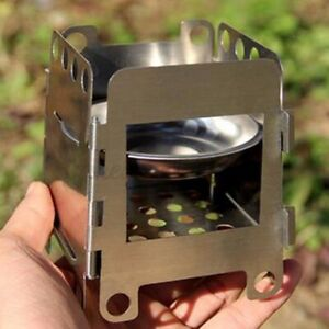 Stainless Steel Folding Portable Wood Burning Stove For Cooking Outdoor Camping