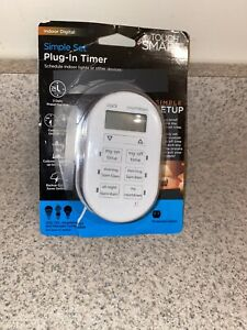My Touch Smart By Jasco GE 26892 Indoor Simple Plug-In Digital Timer White P3143
