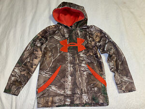 Boy's Youth Small medium Under Armour Camouflage Camo Hoodie Realtree $13.99