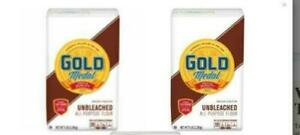 2 NEW GOLD MEDAL ALL PURPOSE FLOUR 5 LBS BAKING UNBLEACHED COOKING 10LBS TOTAL