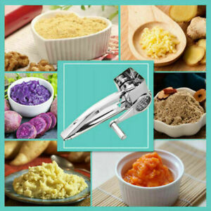 Stainless Steel Cheese Grater Rotary Blades Hand Crank Vegetable Grinder Kitch