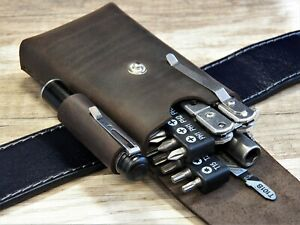 EDC pouch leatherman Leather belt pouch Multitool sheath EDC organizer tool bag