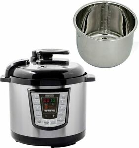 Electric Pressure Cooker 9 in 1 6 Qts 1000W Instant Stainless Steel Pot Yogurt