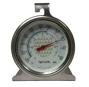 Taylor Precision Freezer Thermometer New 2.5 Dial Design Durable Stainless Steel