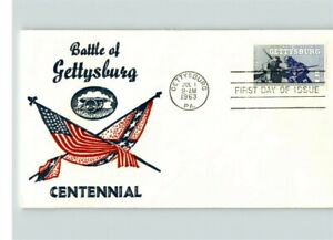 Battle of GETTYSBURG Civil War Battle 1963 First Day of Issue pic Union amp; Con $6.00