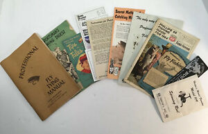 Vintage Fishing Pamphlets Manuals Guides Reel Fly Tying Herters Drewrys Lot 11
