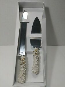 Stainless Steel Pearl Decorative Handle Cake Cutting Set