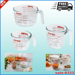 Pyrex Measuring Cups 3-Piece Clear