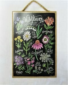 Wildflowers Gardening Flower Wood Sign Chalkboard Sign Mothers Day Gift NEW
