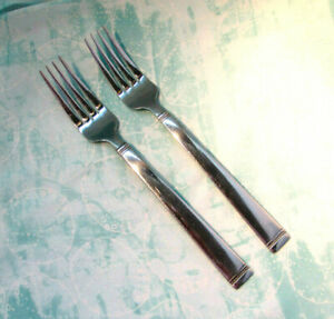 FONTINELLA-TWO DINNER FORKS-Food Network Stainless-FONTINELLA-beaded/banded