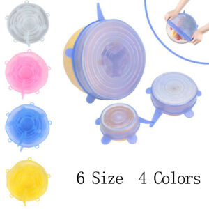 Stretchable Silicone Lid Set Fresh-keeping Cover Cover Reusable stre liVGUSS pz
