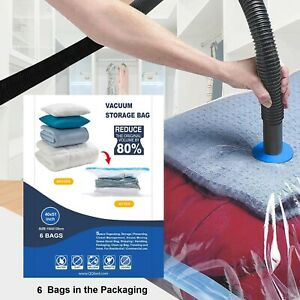 6 Super Jumbo Extra Large Space Saver Vacuum Seal Storage Bag Largest Space Bags