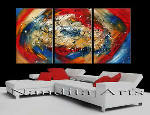 Abstract Original Landscape oil framed Canvas Antique Vintage Painting Wall Art $748.00