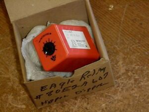 *NEW*... EAGLE SIGNAL 80E2A6 07 120V TIME ON DELAY RELAY SWITCH 80E2A607