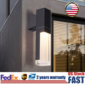 Modern LED Outdoor Wall Lamp Sconce Light Fixture Waterproof For Balcony Garden